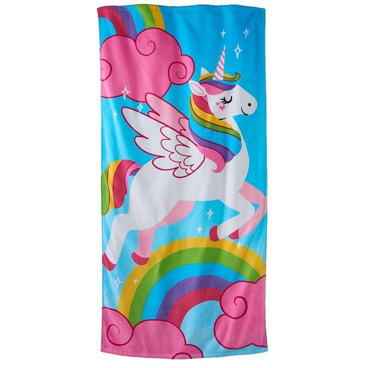 Jumping Beans Unicorn Beach Towel Beach Towel Unicorn Towel