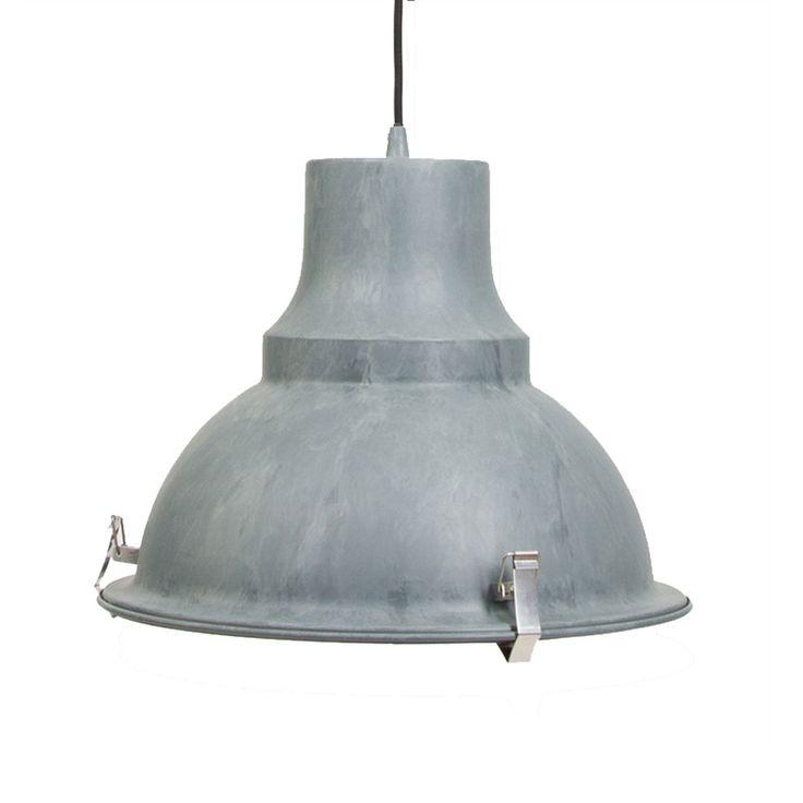 Grijze Industriele Hanglamp Mento O38 5cm Industriele Hanglampen Hanglamp Industriele Lampen