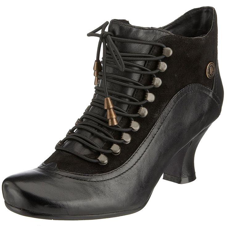 Hush Puppies Vivianna Black Womens Ankle Boots