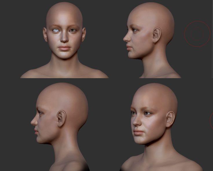 1º head sculpt feedback. - polycount