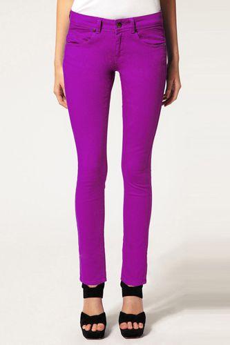 yes plz.: Bright Purple, Purple Jeans, Asos Purple, Style Pinboard, Colored Denim, Purple Skinny Jeans, Colored Jeans, I D Wear, Lust List