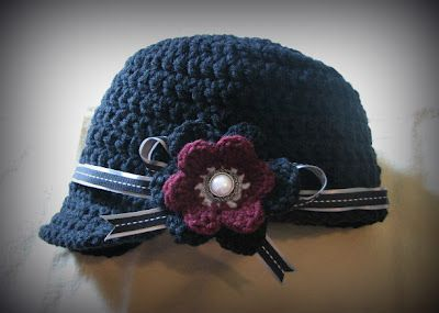 Free crochet pattern for newsboy hat! LOVE IT! ༺✿ƬⱤღ  http://www.pinterest.com/teretegui/✿༻