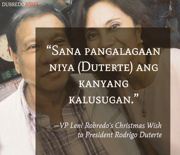 VP Leni Robredo's Christmas wish for President Rodrigo Duterte. #Dubredo | @rapplerdotcom