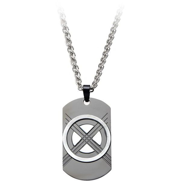 Marvel X-Men Wolverine Dog Tag Pendant in Stainless Steel ($35) ❤ liked on Polyvore featuring men's fashion, men's jewelry, men's necklaces, mens chains, mens dog tag pendants, mens long necklaces, mens chain necklace and mens watches jewelry