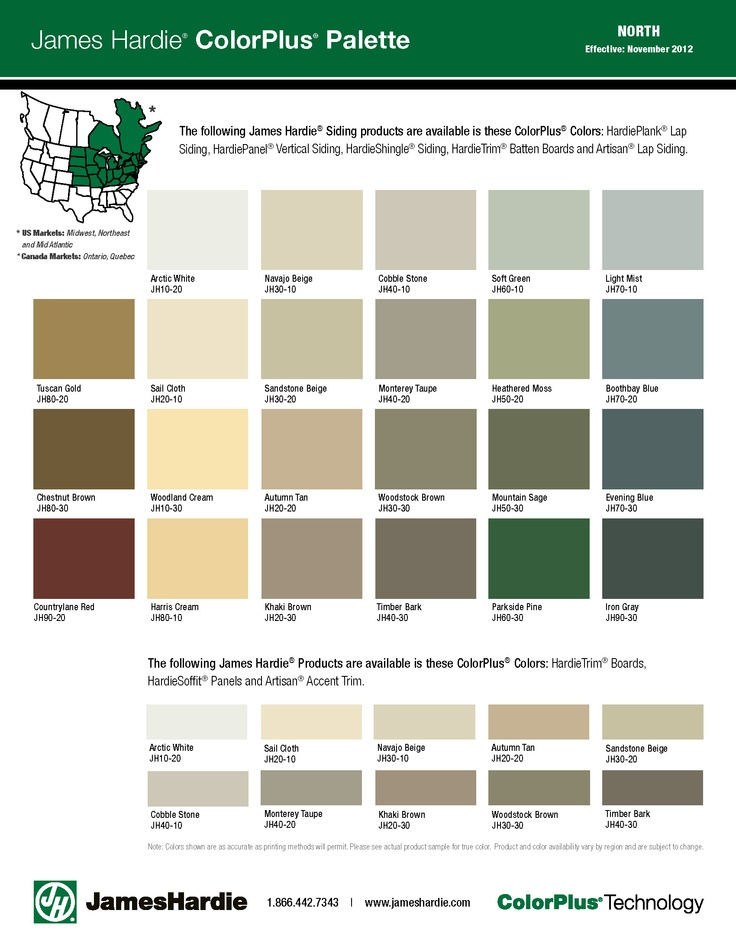 Hardie Color Palette Most Colours Available Contact