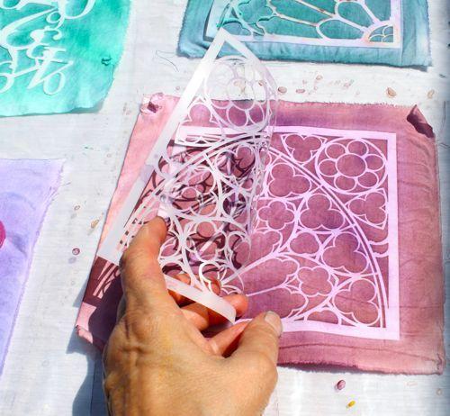Sun printing on fabric