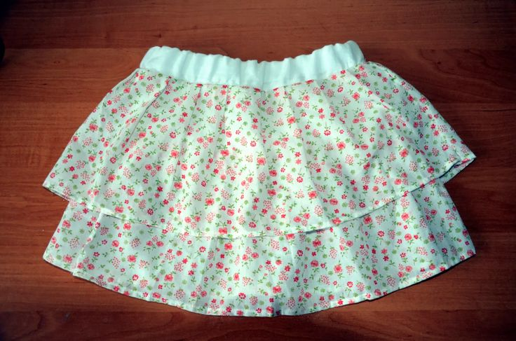 sewed skirt for little kid