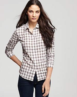 Store With Big Discount For Nice Online James Perse Woman Checked Cotton-poplin Shirt Gray Size 2 James Perse Cheap Sale Shopping Online In China Cheap Online uO2QahX08