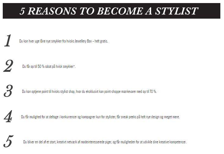 BECOME HVISK STYLIST  #hvisk #hviskstylist #becomestylist #thejewelleryrepublic #hviskstyling #details #jewellery #danish #design #smykker #outfit #inspiration http://hvisk.com/da/about-stylist/