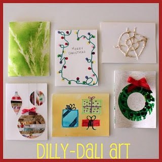 Six Creative Christmas Cards: Christmas Countdown, Cards Ideas, Homemade Christmas Cards, Handmade Cards, Creative Christmas, Cards Crafts, Homemade Cards, Christmas Ideas, Dilly Dali Art