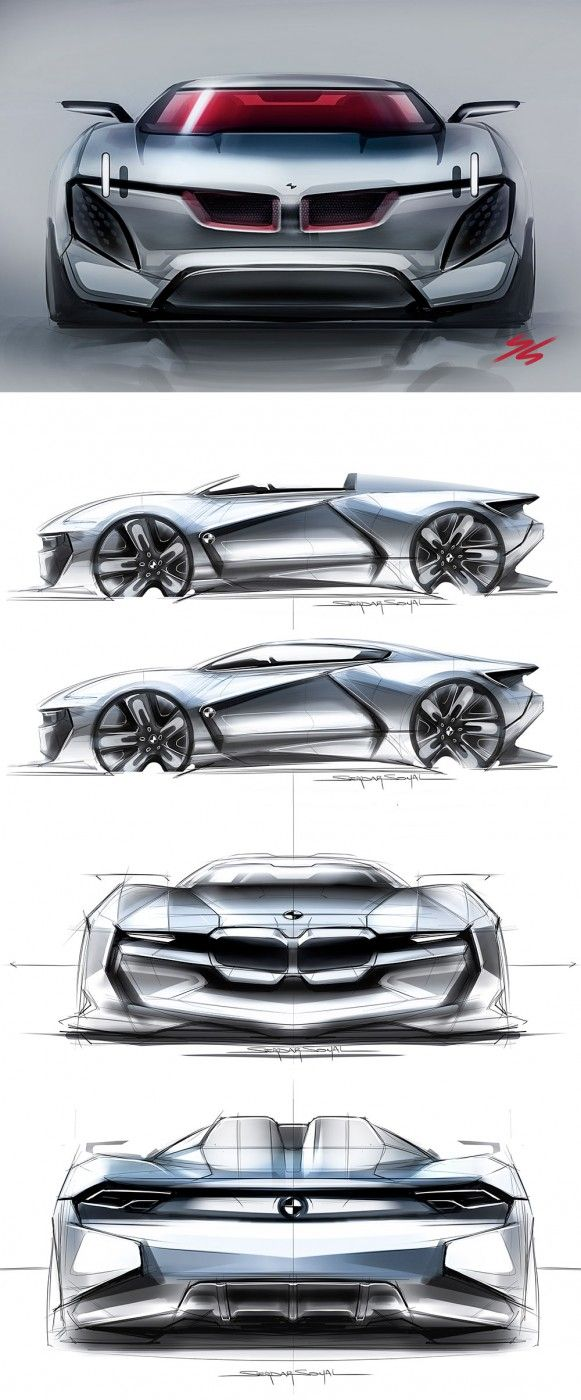 BMW Concept Design Sketches by Serdar Soyal