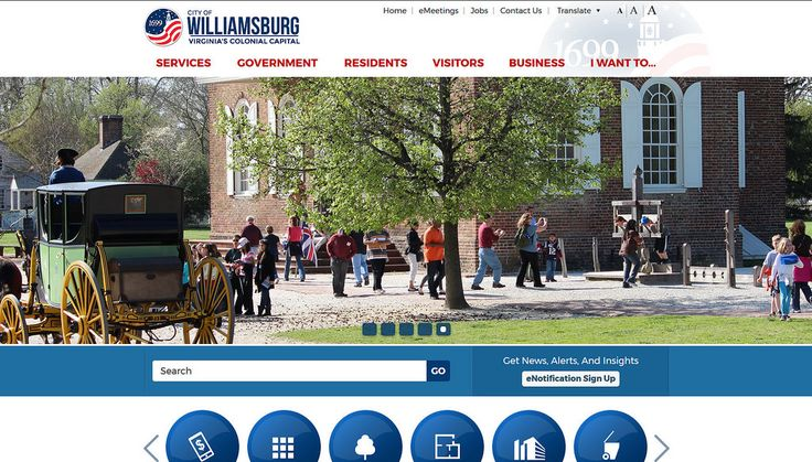2017 City/County Small Population Group (40,000 residents and fewer) Members' Choice Award Winner (tie) http://www.williamsburgva.gov