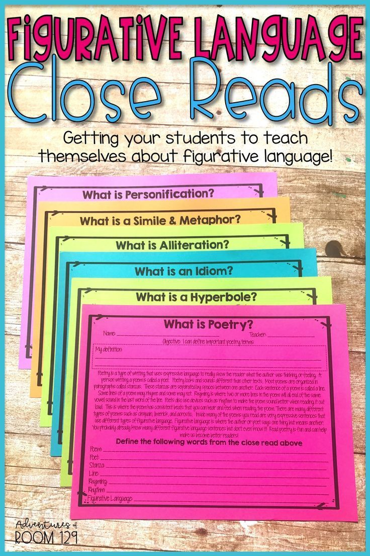 Introducing Or Reviewing Figurative Language These Poetry Activities Are Perfect For 2nd Figurative Language Figurative Language Printable Reading Vocabulary [ 1104 x 736 Pixel ]