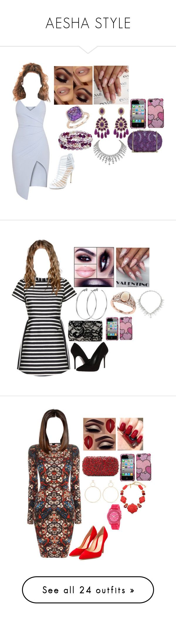 """""""AESHA STYLE"""" by usocrazygirl on Polyvore featuring Honora, Kenneth Jay Lane, Blue Nile, Elie Saab, Kurt Geiger, Topshop, DKNY, Effy Jewelry, Nina and Alexander McQueen"""