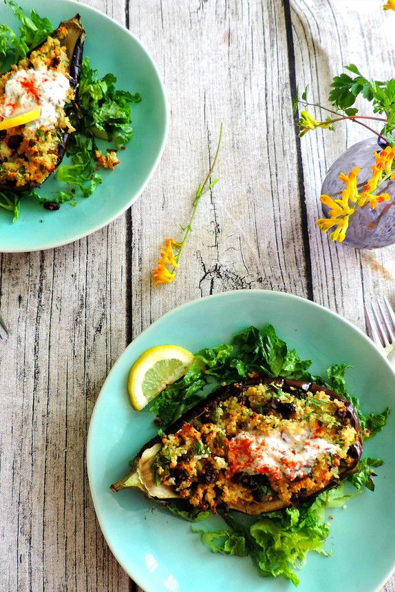 The Pool | Food and home - Middle Eastern Stuffed Aubergine