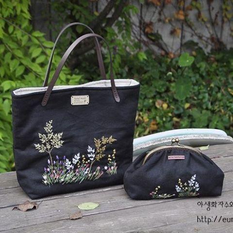 #들꽃자수가방 #야생화자수 #들꽃자수 #embroidery #handmade