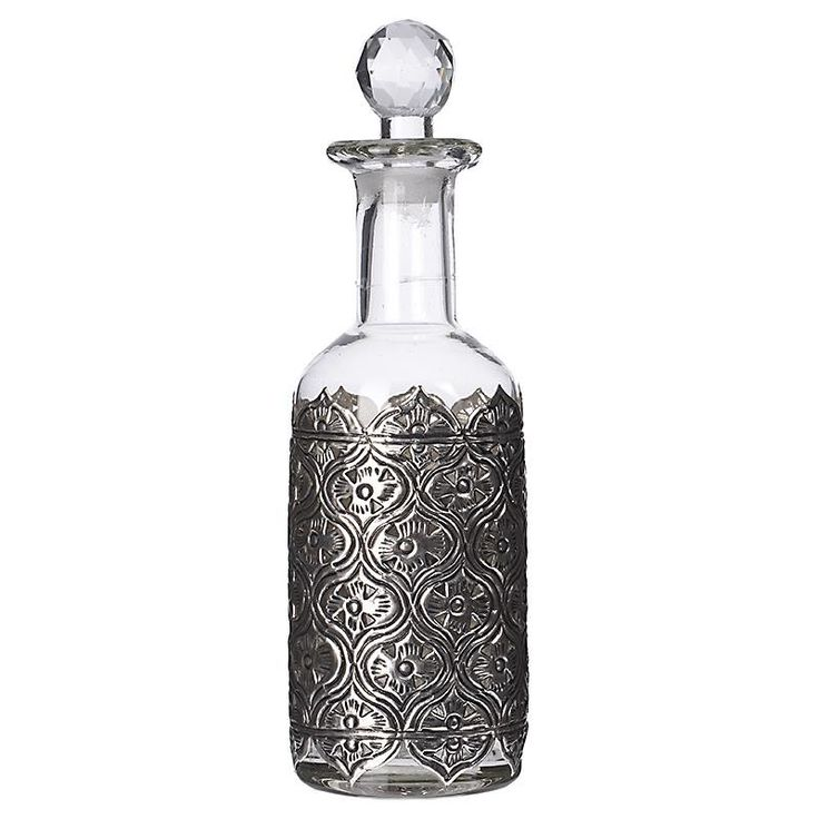 Glass Decanter with Metallic Details - Decanters - Wine Sets - DECORATIONS - inart