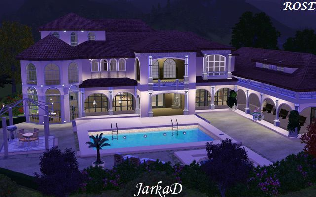 Casa imperiale di notte case the sims 3 pinterest for Case the sims 3 arredate