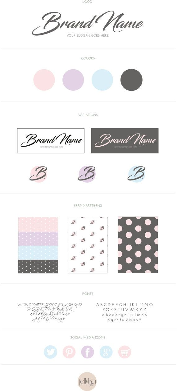 Brand Identity/Brand Kit/Logo/Business by jellyfishfish on Etsy
