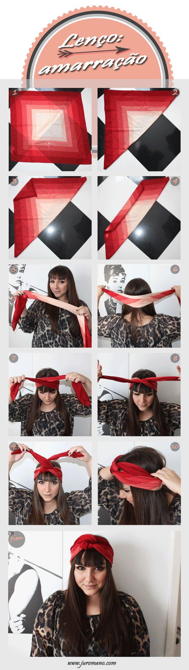 Como amarrar o lenço na cabeça - Entre Topetes e Vinis