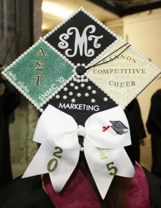 decorated graduation caps | How to Decorate Your Graduation Cap! | Her Campus