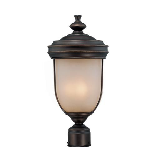 Shanton Antique Rust Three-Light Outdoor Post Light