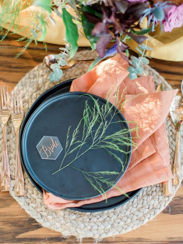 earthy chic place setting