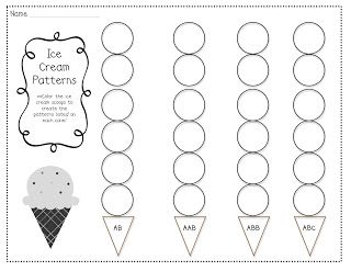 ICE CREAM PATTERNS   1-2-3 COME FIND ME