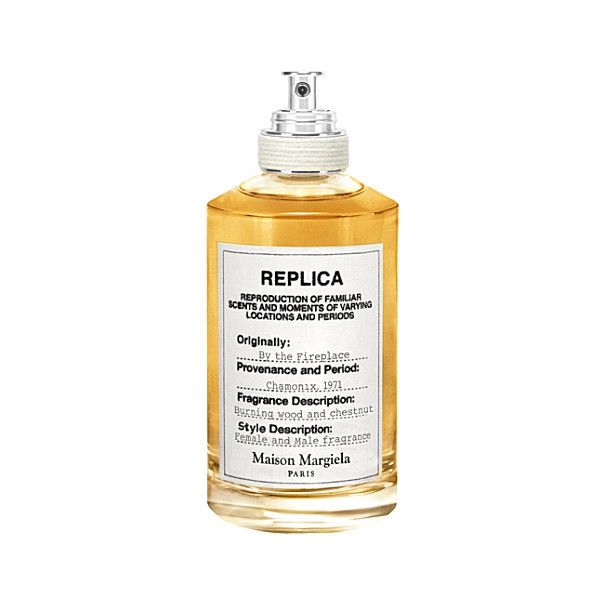 MAISON MARGIELA Replica by the fireplace eau de toilette 100ml (€95) ❤ liked on Polyvore featuring beauty products, fragrance, edt perfume, blossom perfume, eau de toilette fragrance, maison margiela and flower fragrance