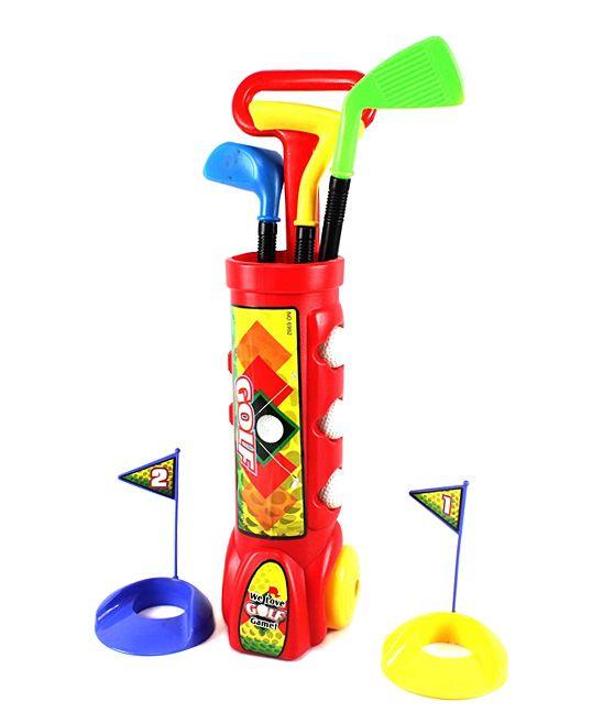 Red Nine-Piece Kid's Golf Set