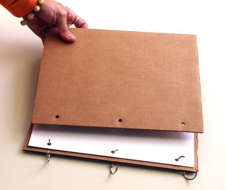 INEXPENSIVE Sketchbook Binding Solutions: Binder Clip