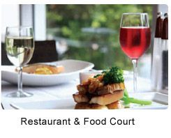 The multi­cuisine Restaurant & Food Court serves a variety of delicacies and wines that caters to your mood and taste.