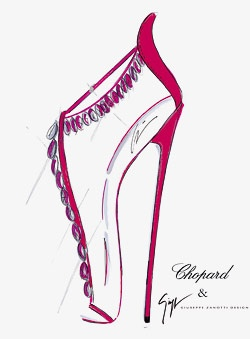 High achievement: Chopard and Giuseppe Zanotti collaborated on a gem of a shoe.