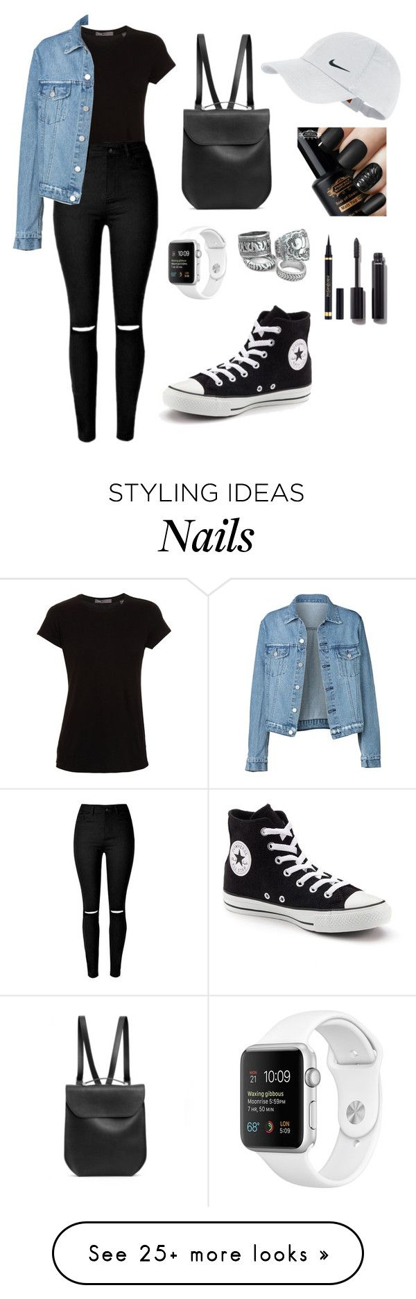 """""""Untitled #183"""" by lexiilexi on Polyvore featuring Vince, Converse, GRETCHEN, NIKE, Yves Saint Laurent and Chanel"""