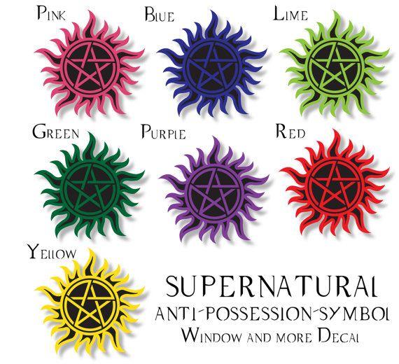 Supernatural anti possession symbol decal sticker by vinylartworld