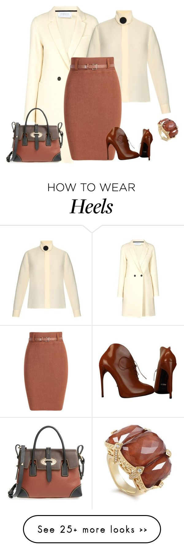 """""""outfit 2388"""" by natalyag on Polyvore featuring Harris Wharf London, Balenciaga, Dooney & Bourke, Gucci and Stephen Webster"""