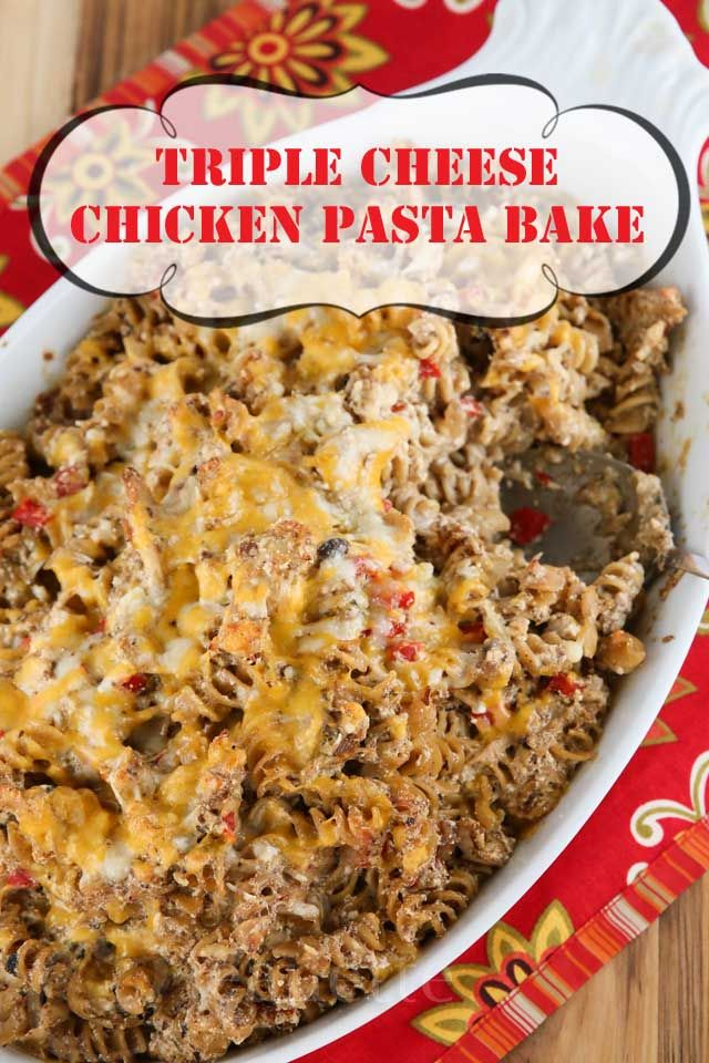 Triple Cheese Chicken Pasta Bake is the perfect winter comfort food. Lighter than most cheesy pasta dishes, this dish is deceptively rich and creamy...