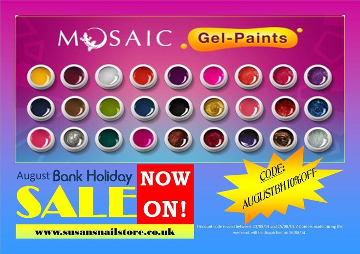 Last day! Limited stock! Don't miss out, order online www.susansnailstore.co.uk