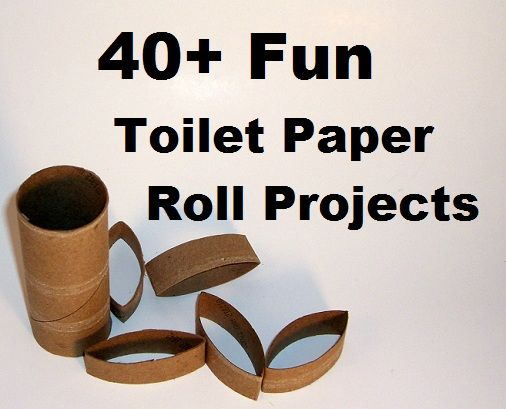 40 + Fun Toilet Paper  Roll  - Craft Projects