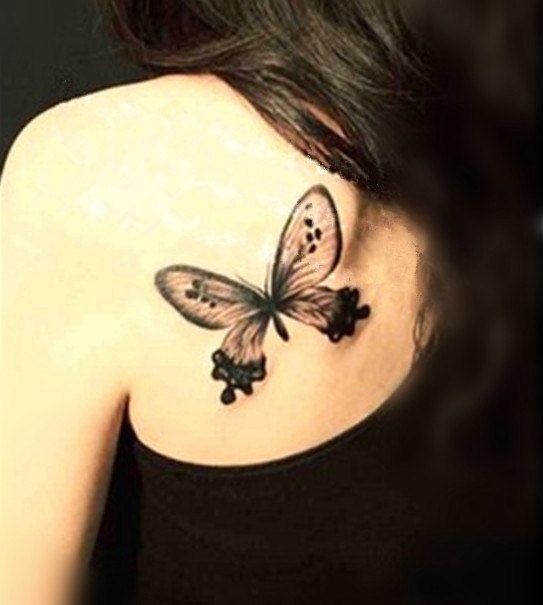 1pc Butterfly  temporary tattoo fake tattoo body art small tattoo
