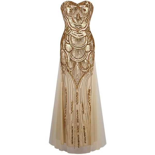 Great gatsby inspired dresses ❤ liked on Polyvore featuring dresses, flapper style dresses, brown cocktail dress, flapper cocktail dress, flapper style cocktail dress and brown dress