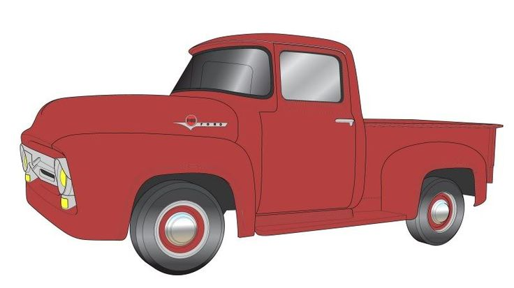 Line Drawing Truck : Best images about ford truck drawings on pinterest