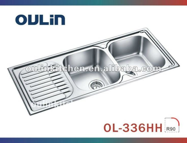 Double Bowl Sink Dish Drain Double Bowl Sink With Drain Board Stainless Steel Linen Finish
