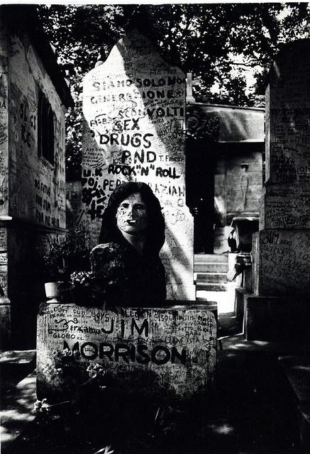 Jim Morrison grave, Pere La Chaise Paris