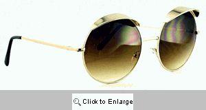 Bentley Metal Visor Sunglasses - 526 Gold