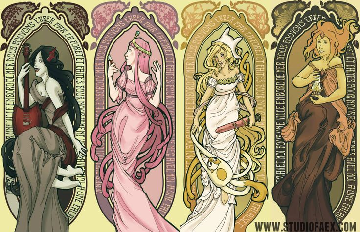 Mucha-Adventure Time by penguinfaery.deviantart.com on @deviantART