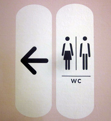 washroom symbols, Paris museum