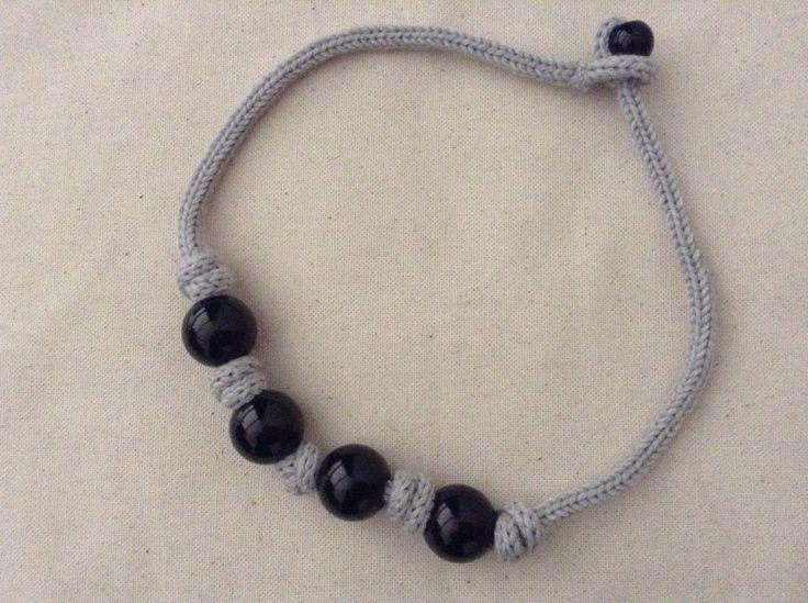 Il filo di DaBa Collana tricot in lana - Il filo di DaBa