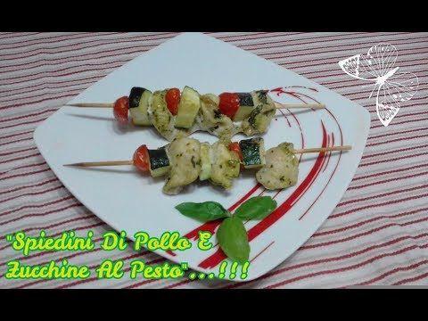 """""""Spiedini Di Pollo E Zucchine Al Pesto""""...!!! Trovate il #video sul mio canale #youtube vi aspetto ;-)) #ricette #spiedini #spiedinidipolloezucchine #spiedinidipollo #spiedinidizucchine #pollo #pettodipollo #zucchine #ricetta #food"""