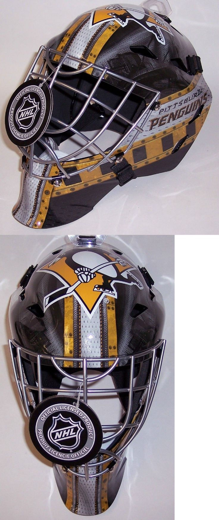 Hockey-NHL 24510: Pittsburgh Penguins Nhl Full Size Youth Goalie Hockey Mask ** New ** -> BUY IT NOW ONLY: $59.99 on eBay!